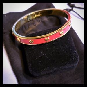 Red and gold coach bracelet